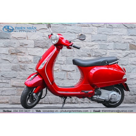Sơn xe máy Vespa - Đỏ Bóng