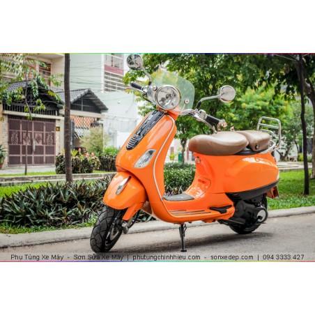 Sơn xe máy Vespa Primavera - Cam Bóng